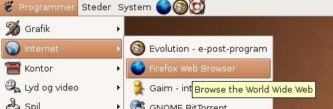 Ubuntu start Firefox